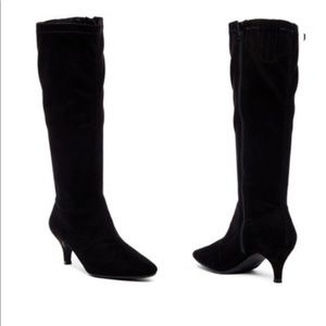 Aerosoles Afterward Black Faux Suede Tall Boots